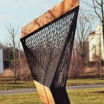 larch, steel 05/12, 190 x 110 x 90 cm, Department of Public Utilities, Arnstadt, 2005