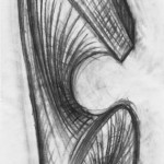Kohle auf Papier, 133 x 36 cm, 2009
