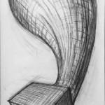 Kohle auf Papier, 83 x 36 cm, 2013