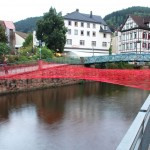 synthetic material 13/08, Installation over the Schiltach river, Schramberg, 2013