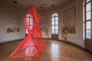 Absperrband 15/03, Installation im Roten Turm, Schloss Belvedere Weimar, 2015