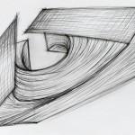 Bleistift auf Papier, 30 x 42 cm, 2019