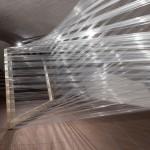 spruce, cling film 20/02, Installation at Galerie im Ganserhaus, Wasserburg/Inn, 2020