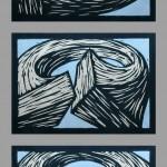 Holzschnitt 05/01, jeweils 30 x 40 cm, 2005