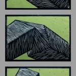 Holzschnitt 05/02, jeweils 35 x 47 cm, 2005