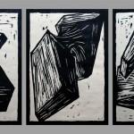 Holzschnitt 05/03, jeweils 30 x 21 cm, 2005