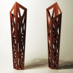 Kirchhainer Wegzeichen, two models, cardboard, height 28,5 cm