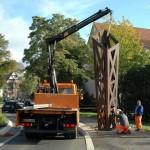 Kirchhainer Wegzeichen, installation