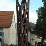 Kirchhainer Wegzeichen, Cortenstahl 15/04, Höhe 5,50 m