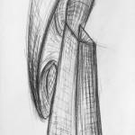 Kohle auf Papier, 76 x 36 cm, 2012