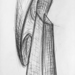 charcoal on paper, 76 x 36 cm, 2012