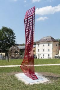 steel 10/06, 360 x 225 x 75 cm, 2010/2019 Salinenpark Traunstein
